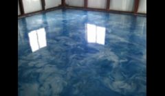 Epoxy Reflector Enhancer floor system in an office area