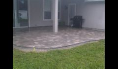 Pavers installed to Lanai with patio addition.