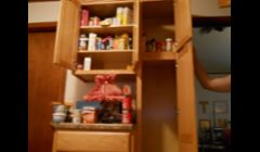 Kitchen cabinet before we spent $$ on supplies