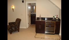 Advanced Renovations Inc - basement remodel with wet bar and full bathroom westerville ohio