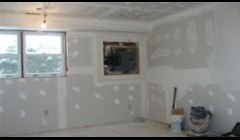 BEFORE REMODELING , DRYWALL TAPING & TEXTURE  !