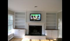 Custom Bookcases & Fireplace Mantel