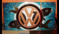 A koi triptych for VW's Lounge at the Sundance Film Festival.