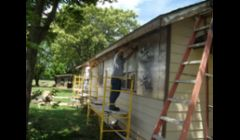 Before we replaced siding