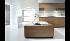 Contemporary Walnut Kitchen Cabinets