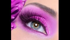 Beautiful eyelash extensions.