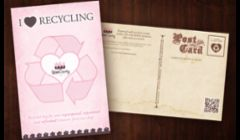 Print Design - Recycled Bag Program Post Card & Direct Mail Piece for Uptown Country Home