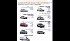 Any type, brand cars rental in Las Vegas