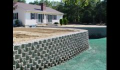 Decorative Retaining Wall System Installation