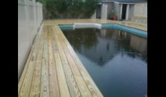 New Pressure Treated Deck (before stain)