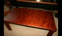 This is a figured Bubinga coffee table.  It's for sale if you're interested.