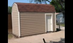 Shed we built from ground up including the slab the shed sts on in Garland Tx