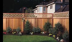 Landscapingand installation of a lattice fence