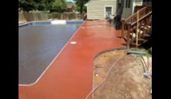 Sponge finish pool decks with color