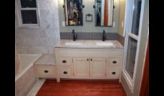 Bathroom Vanity with faux finish