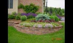 Garden Wall and Perennial Installation