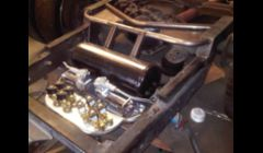 Chevy Dually: Custom Air ride set-up. Includes handmade tube work, tank and bag mounts, compressor and valve trays.