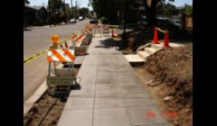 New Historical City of San Diego side walk just poured on Ibis St. in Mission Hills.