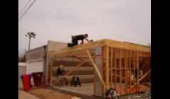 Construction of a new 2 - car garage in Mission Hills.