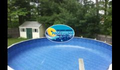 Above ground pool liner replacement on a 28rd Namco pool.