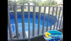 24 round Sharkline With Visions walk around and Deck. This pool has a fully carpeted Deck and walk around.