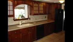 Oak cabinets after refinishing