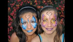 Butterfly face painting by Cynnamon\ www.facepaintingbycynnamon.com