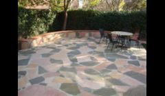 Flagstones with retaining walls