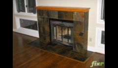Slate Fireplace. For more pictures, please visit our Flickr account: http://www.flickr.com/photos/peoplesflooring/sets/