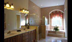 Green home master bath. Luxury green collection.