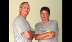Mike Rathbun and Mardi Calhoun, founders of Freedom Cleaning Services.