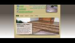Website Design Sample for Wynn Custom Construction