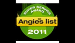 Super Service Award Winner with Angie's List