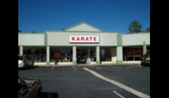 Front of our location in the Leland Shopping Plaza