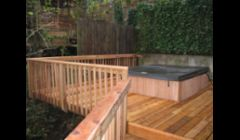 Custom Deck with new jacuzzi