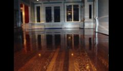 Existing hardwood flooring restoration.
