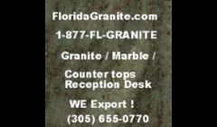 Granite, marble, Quartz we export by Florida Granite.