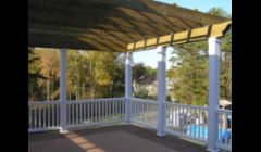 Large Pergola over deck area.