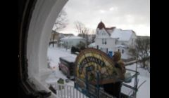 Stained glass window restoration at Ste. Anne Church, Mackinac Island, MI