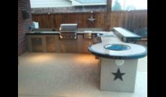 outdoor kitchen Katy, patio cover, Texas Star Logo