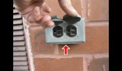 Exterior Outlet Not GFCI Protected