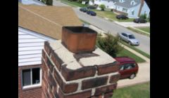 Cement chimney cap cracked and no metal weather cap