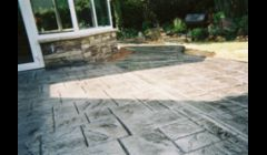 Stamped concrete colored patio