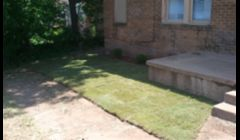 here is some sod work done.also shurb work.