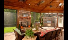 Comfortable screened porch