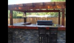 Outdoor kitchen finished