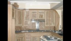 cabinet refaceing and restain also available we sand down the frames and doors mask everything off foe easy and clean restain