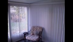 Sun room done in verticals. This product cut down the cold air (winter) and kept out the heat (summer) with creating privacy