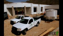 Custom home under construction by LiteSync in Dove Mountain