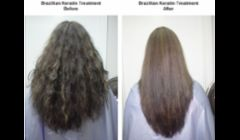 before and after Brazilian blow out